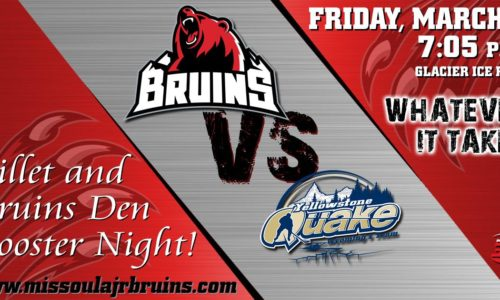 Missoula Bruins Playoffs & Hockey Night