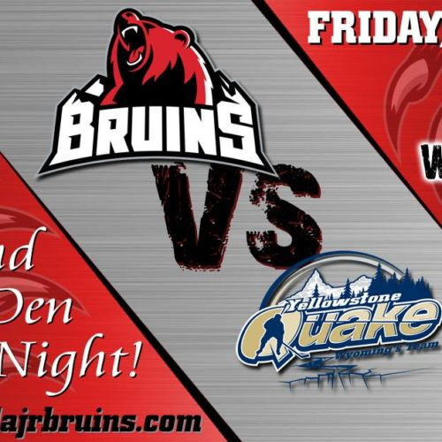 Missoula Bruins Playoffs & Hockey Night